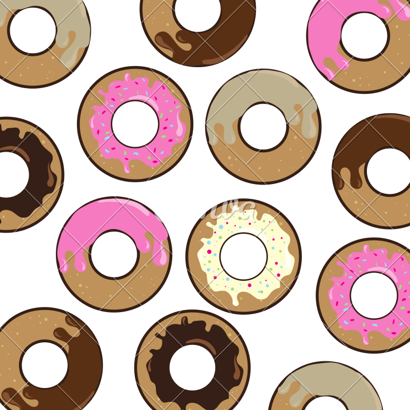 Donuts vector delicious. Pattern sweet icon icons