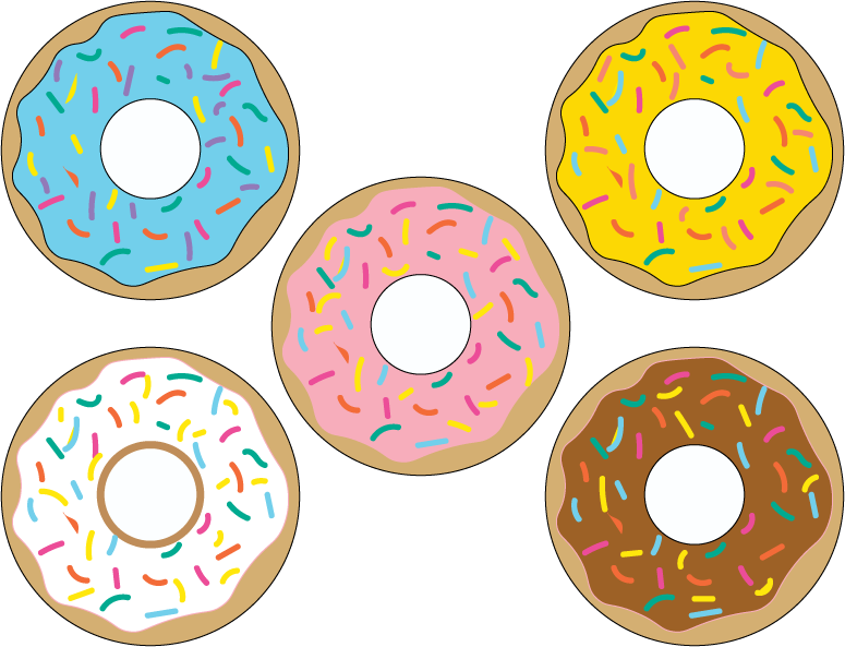 Donuts vector perfect. Donut printables awesome party