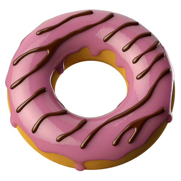 Donuts vector perfect. Buy choco cake font