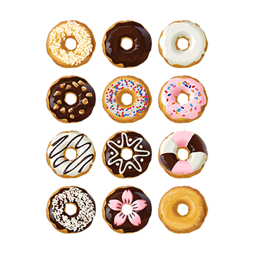 Donuts vector psd. Donut png vectors and