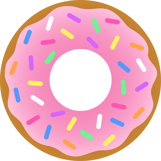 Donuts vector simple. Strawberry sprinkled donut pinterest