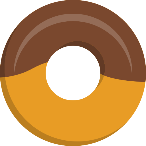 Donuts vector simple. Donut icon png and