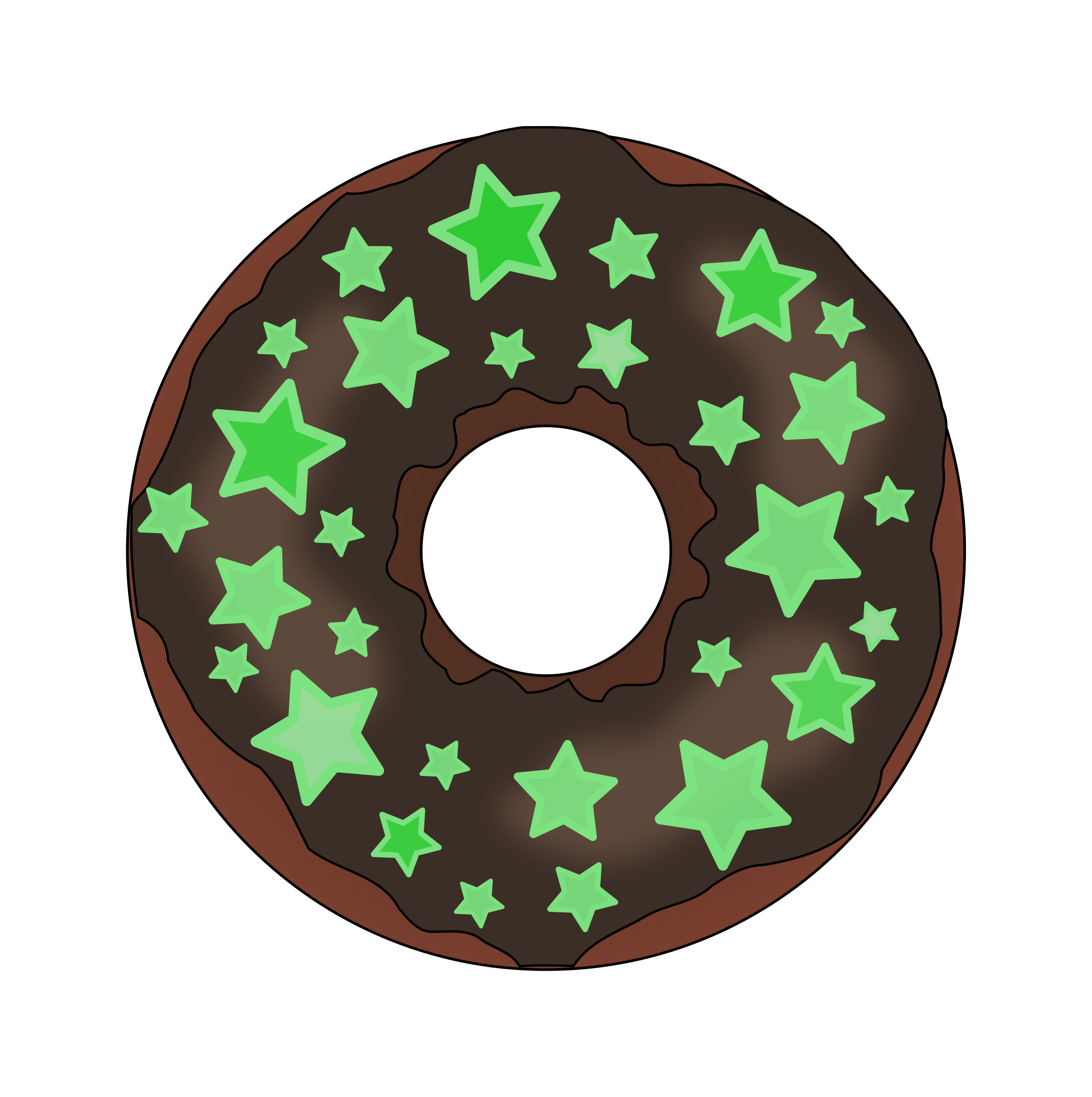 Glow vector in dark. The donut icons png
