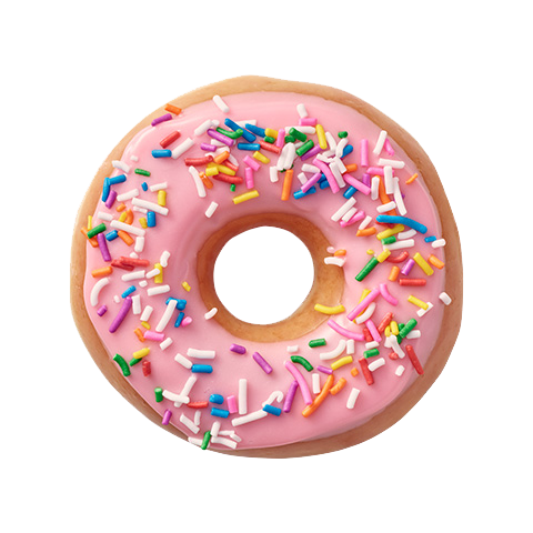 Donuts vector simple. Strawberries clip free