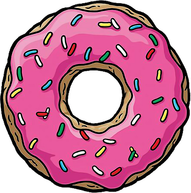 Donuts vector simpson. Homer simpsons freetoedit