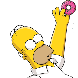 Donuts vector simpson. Download homer donut icon