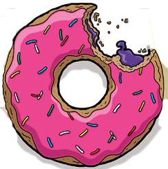 Donuts vector simpson. Donut tattoo pinterest illustrations