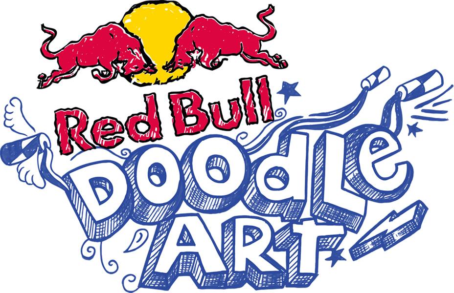Doodle art png. Red bull
