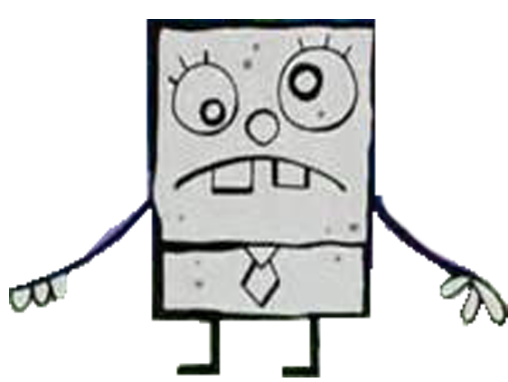 Doodlebob drawing. Image png the equestrian