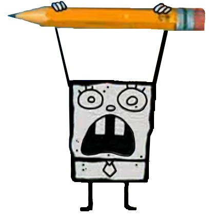 Doodlebob drawing. Image png universe of
