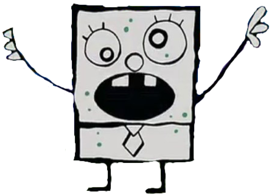 Drawing guys back boy's head. Image doodlebob png encyclopedia