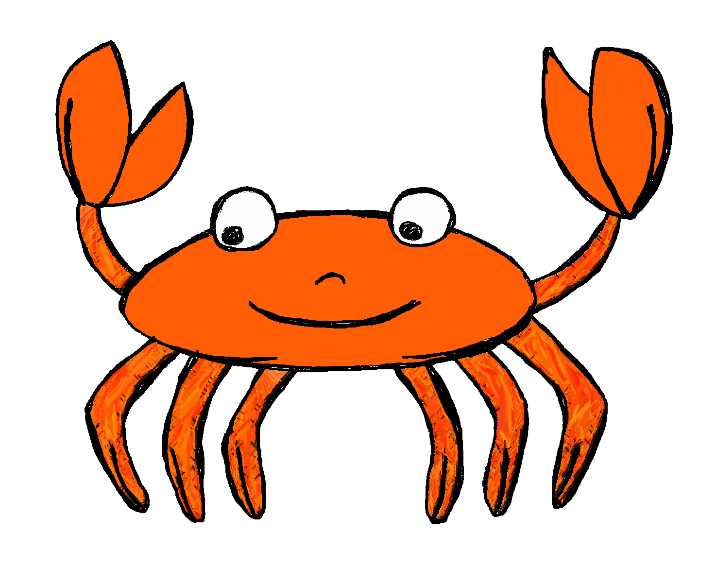 Transparent crab aquatic animal. Clip art by carrie