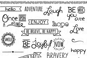 Doodle clipart word. Words photos graphics fonts