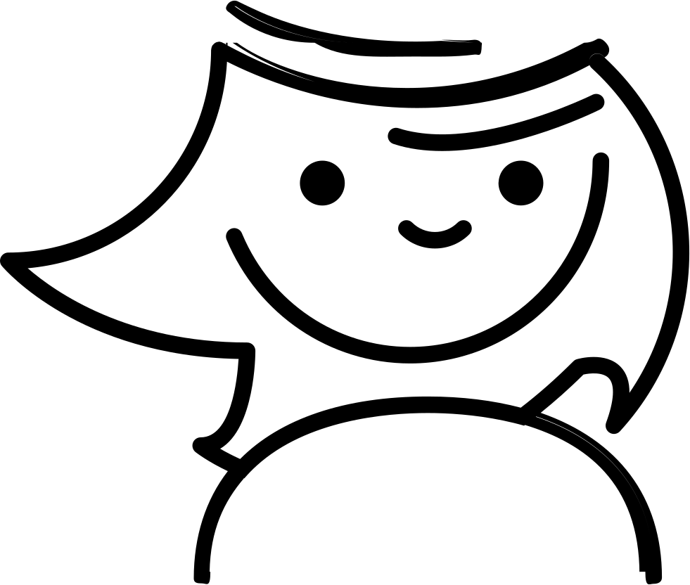 Doodle face png. Smiling svg icon free