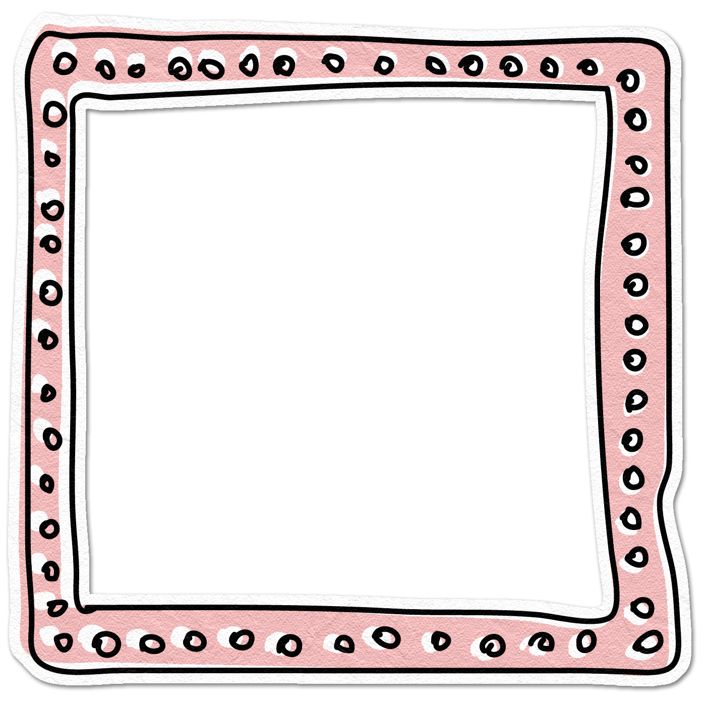 Doodle frame png. Yellow element doodledpinkframe jun