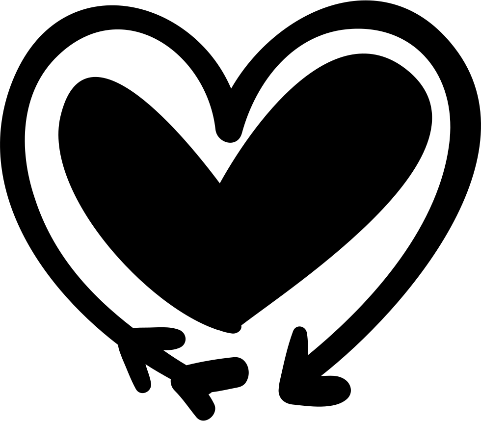 Doodle heart png. Arrow and svg icon