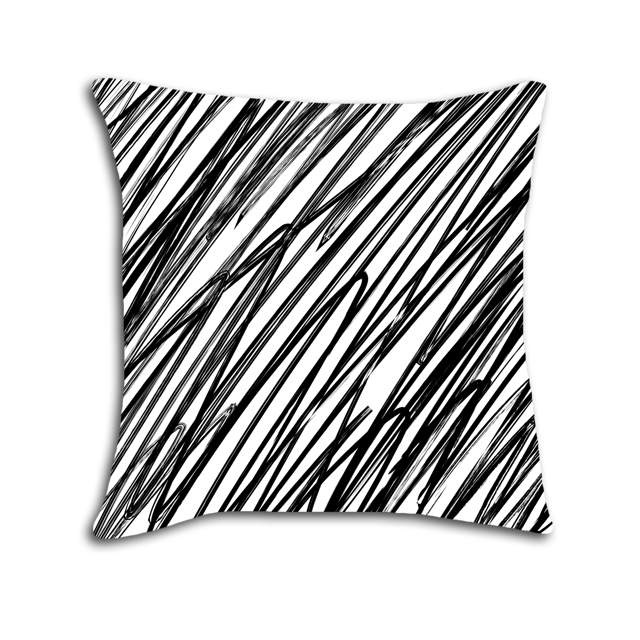 Doodle lines png. Black and white striped