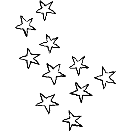 doodle stars png