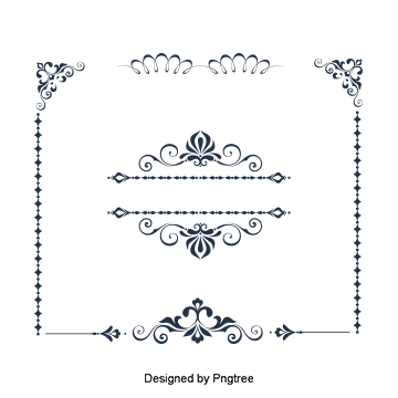 Vector type vintage. Text bottom frame lace