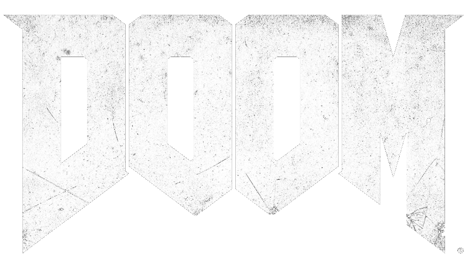 Image . Doom 2016 logo png black and white