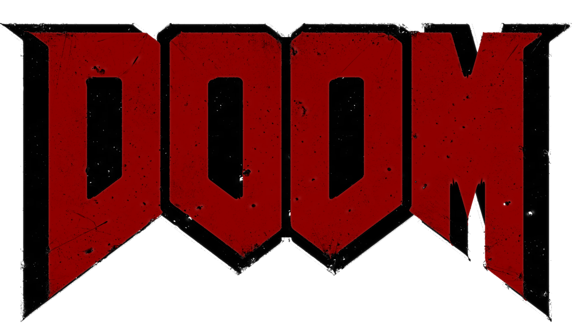 Red and black by. Doom 2016 logo png image free stock