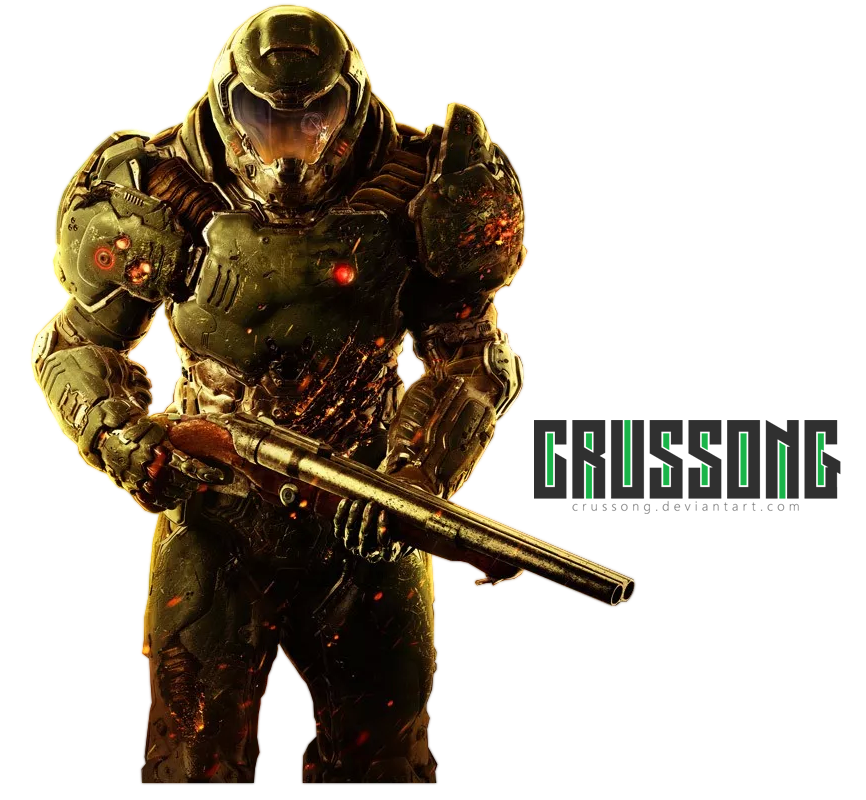 Gunshot transparent doom. Marine render by crussong