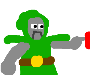 Doom drawing green