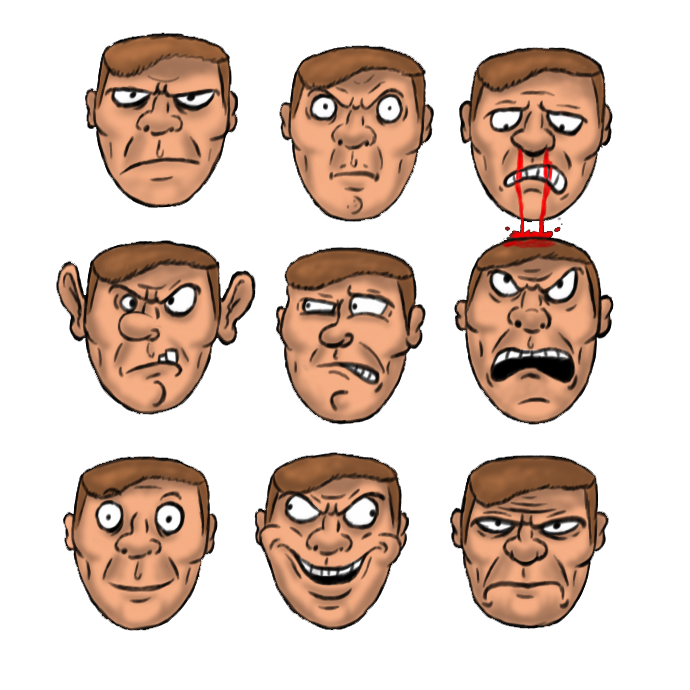 Doomguy face png. Faces by criticalhitsam on