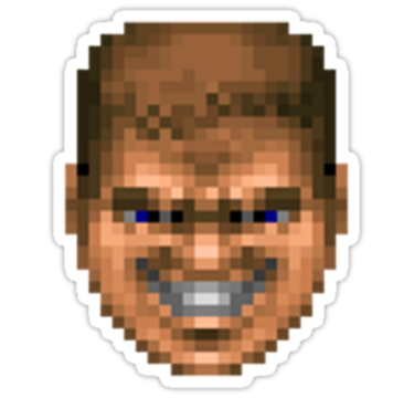 Doomguy face png. All hell has broke