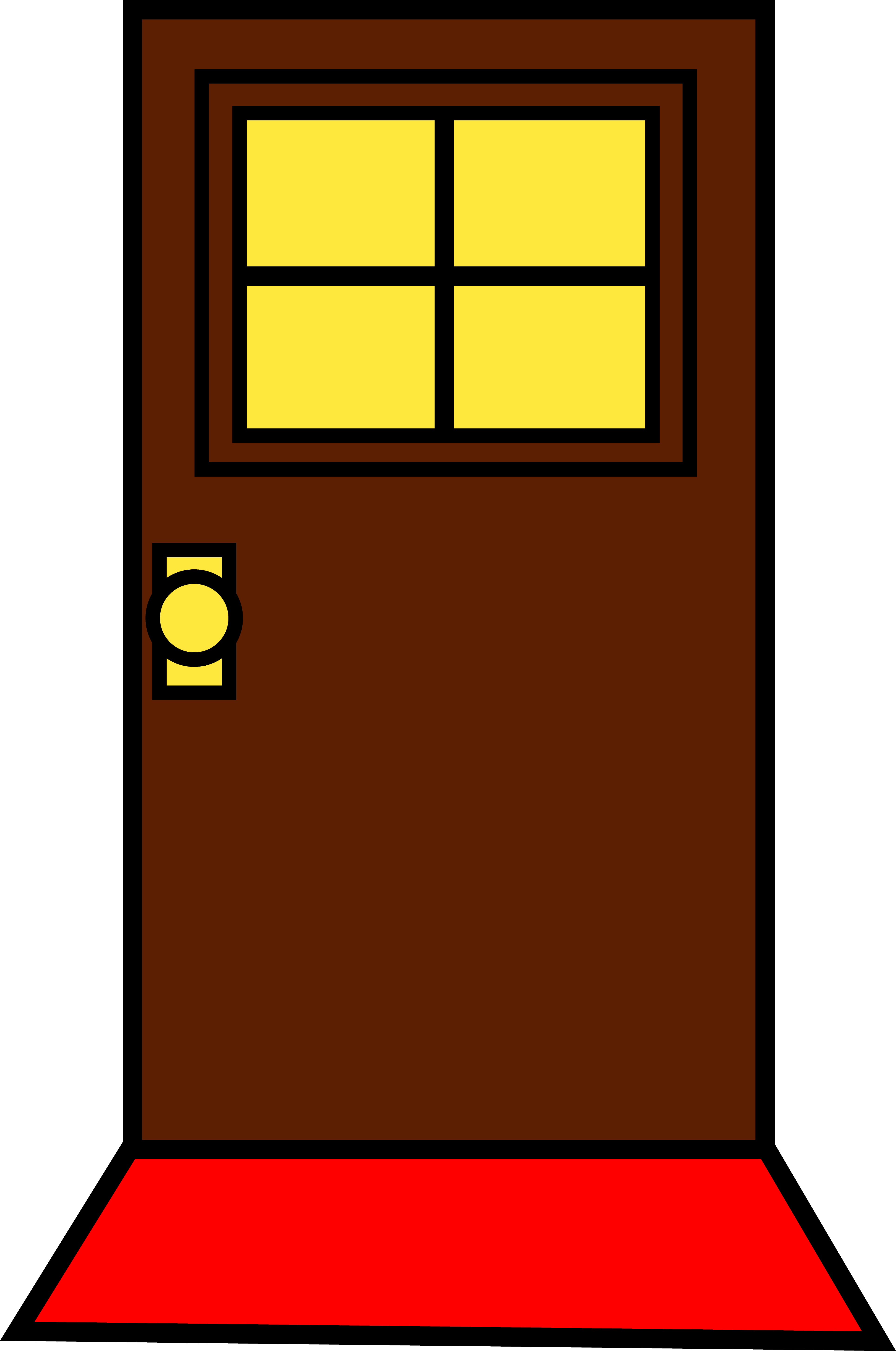Door clipart. House