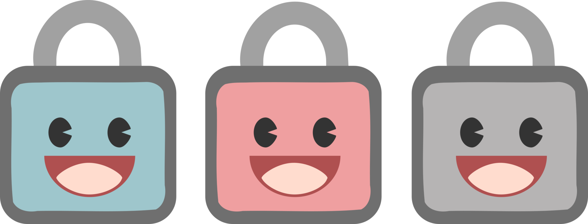 Transparent padlock cartoon. Computer icons door lock