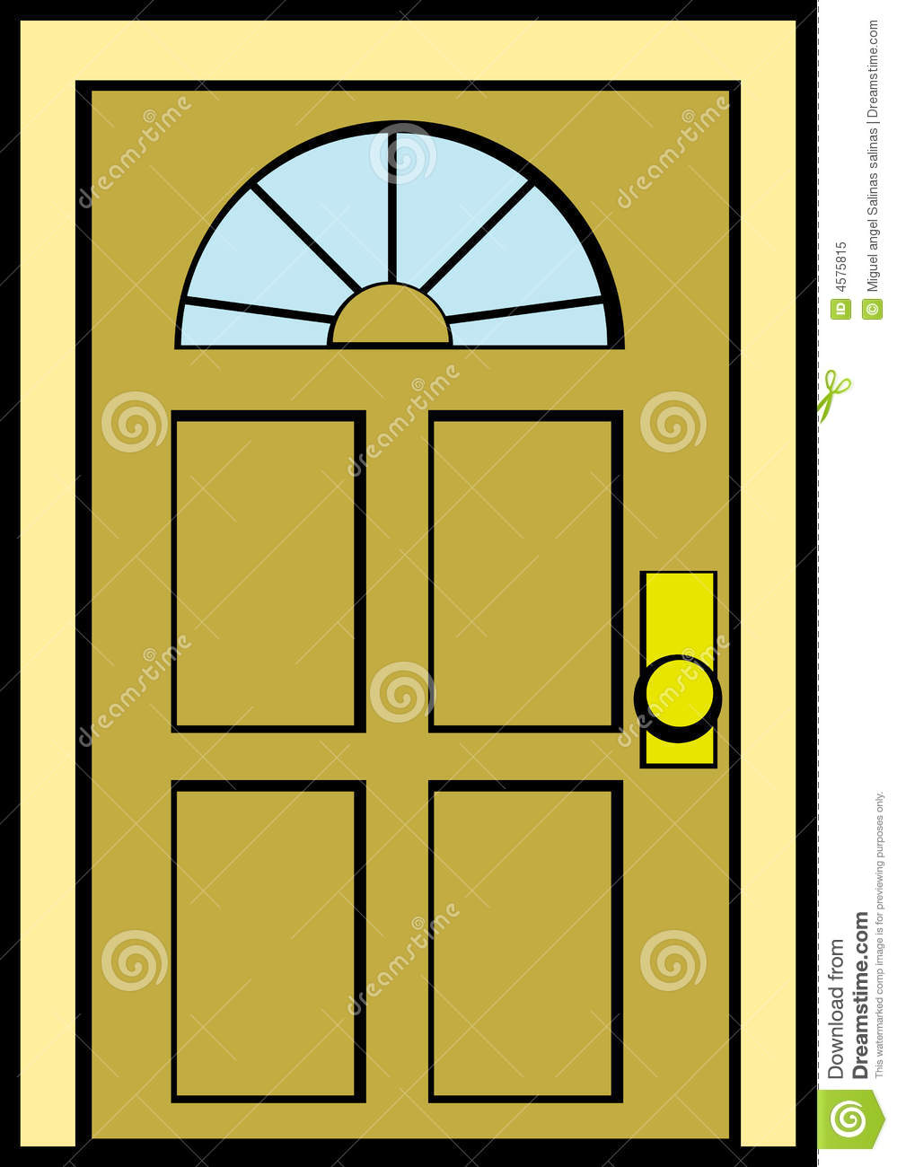Door clipart puerta. Doorway pencil and in