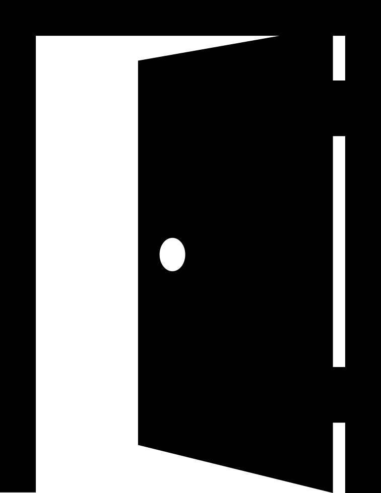 Door icon png. Open entrance svg free