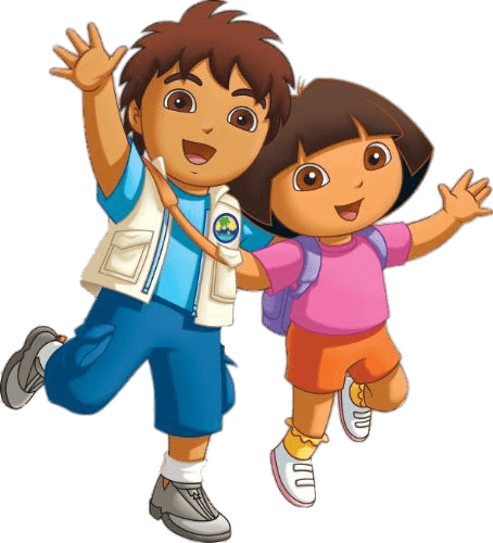 Dora transparent background. Diego and png stickpng