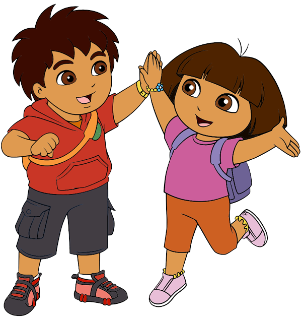 Dora transparent kid. Collection of free doura