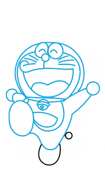 How to draw a. Doraemon transparent rangoli designs clipart library library