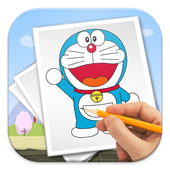 Doraemon drawing. How to draw apk