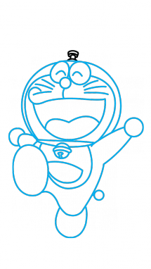 How to draw a. Doraemon drawing art clipart transparent
