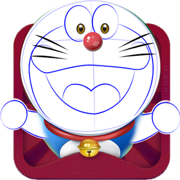 Doraemon drawing beginner kid. Download how to draw