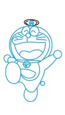 How to draw a. Doraemon drawing cute clip art black and white library