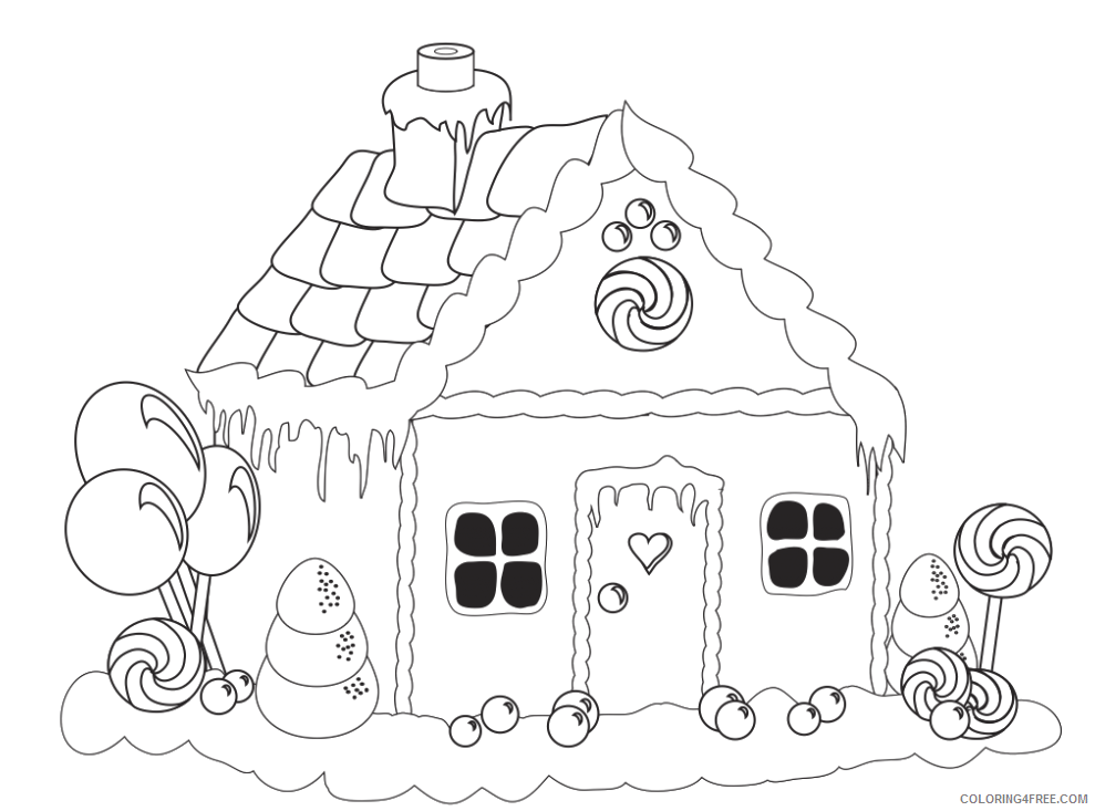 Doraemon drawing house. Printable gingerbread coloring pages