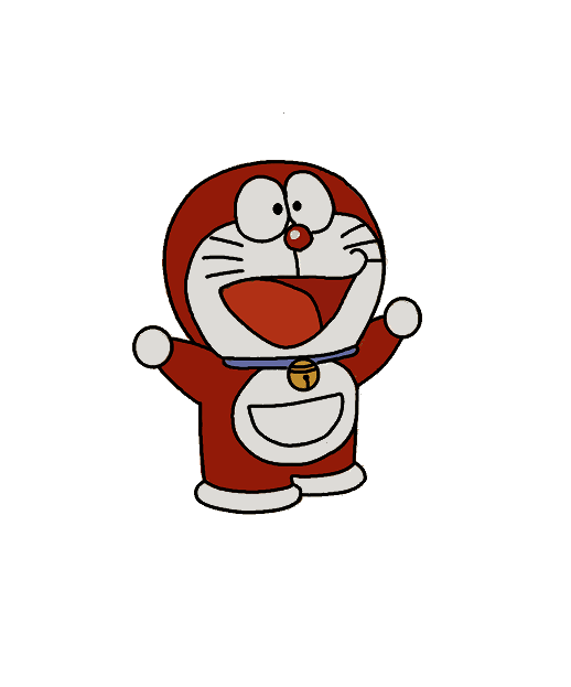 Doraemon drawing mini. Red only google search