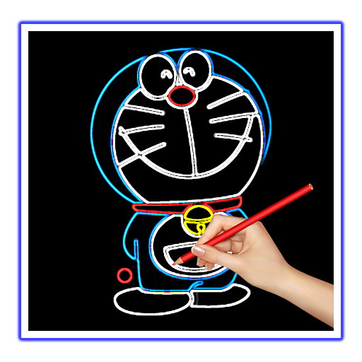 Drawing paint doraemon. Draw glow apk download