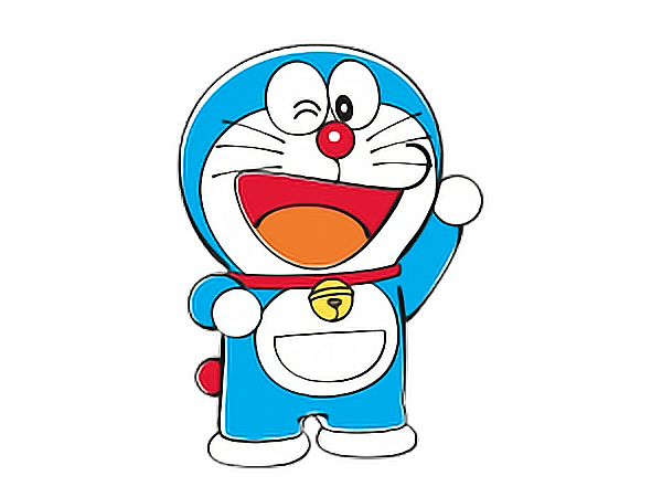 Doraemon transparent happy. Hand freetoedit