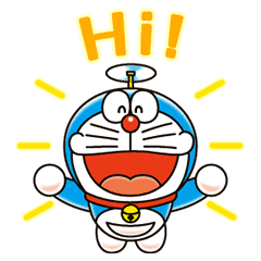 Doraemon transparent moving. Animated stickers line store