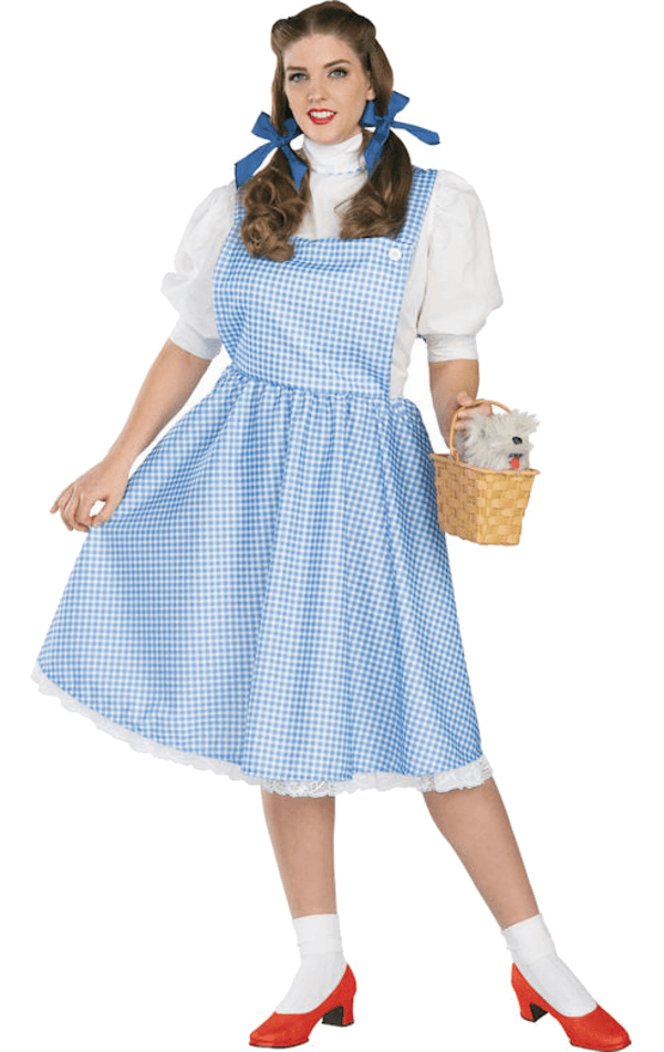 Dorothy wizard of oz png. Official costume plus size
