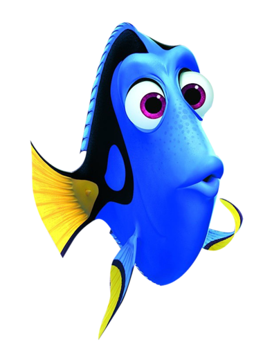 Drawing dory underwater. Png printables for