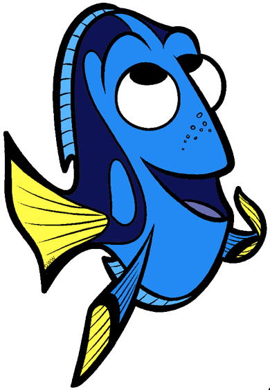 Dory clipart blue fish. Finding clip art disney