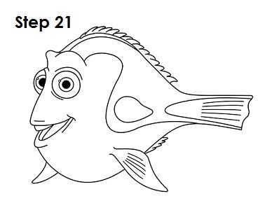 Dory clipart black and white. How to draw fishing