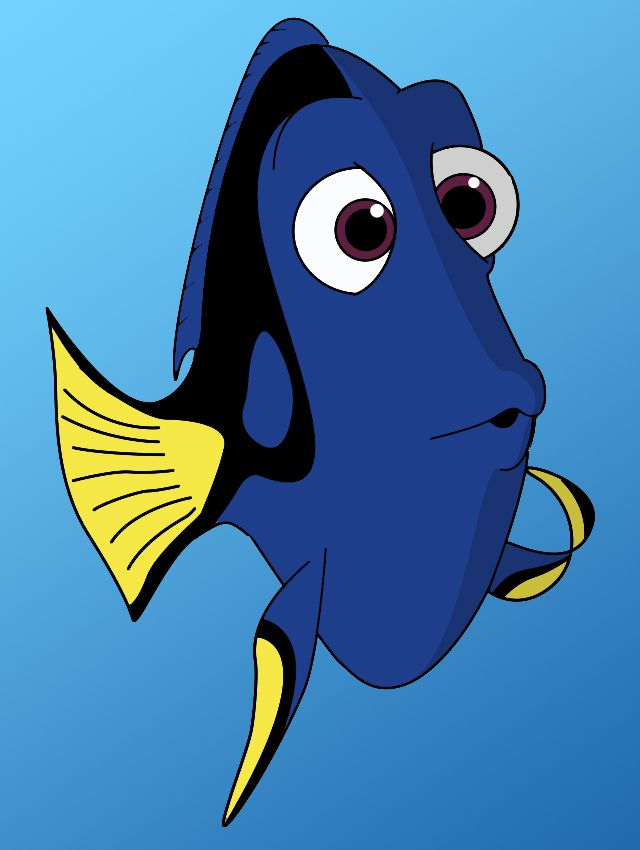 Dory clipart blue fish. Best just keep